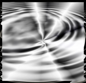 Beautiful image of glow of sun on water moving to a breeze