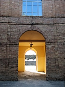 A brilliant yellow wall in Siena