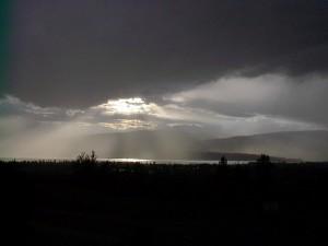 Okanagan Valley Sunset from winery