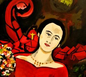 detail of a painting I did as a donation for Gallery Vertigo