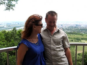 overlooking vienna from a viewpoint