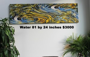water 81.7 inches by 24 inches $3,000