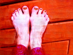 quirky art cards: feet series