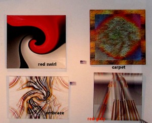 four images on canvas/ mixed media