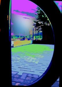 bike rack neon thumb
