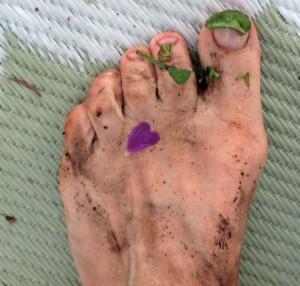 bare foot gardening